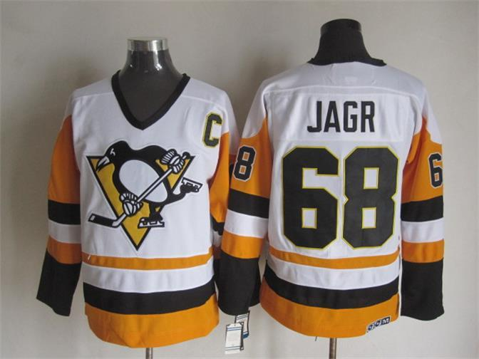 NHL Pittsburgh Penguins 68 Jagr White Jerseys