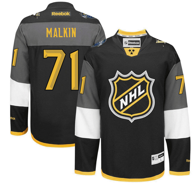 NHL Pittsburgh Penguins 71 Malkin black 2016 All Star Jersey