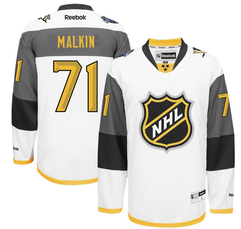 NHL Pittsburgh Penguins 71 Malkin white 2016 All Star Jersey