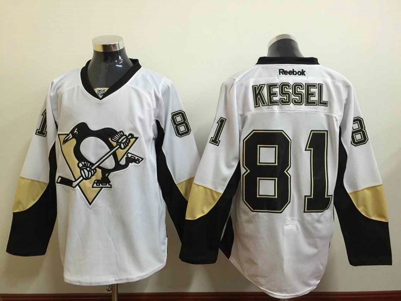 NHL Pittsburgh Penguins 81 Phil Kessel White 2015 Jerseys