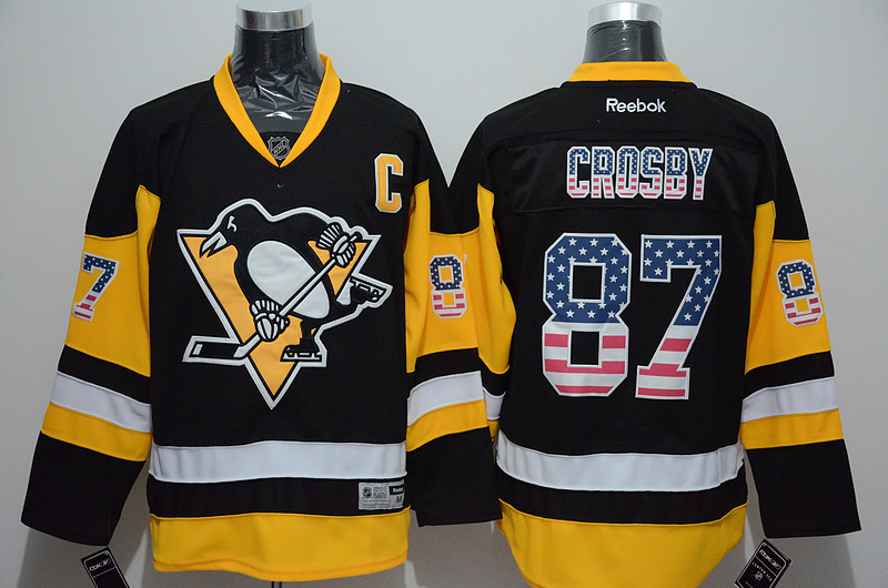 NHL Pittsburgh Penguins 87 Sidney Crosby 2015 National Flag Edition