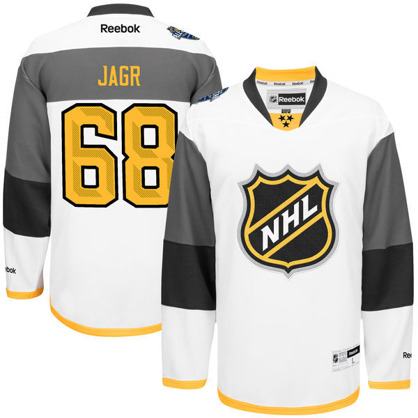 NHL Reebok 68 Jaromir Jagr White 2016 All Star Jersey