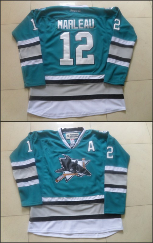NHL San Jose Sharks 12 Patrick Marleau Green 25th Anniversary