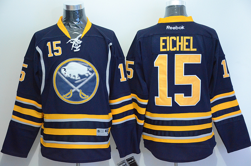NHL San Jose Sharks 15 Jack Eichel Blue 2015 Jerseys