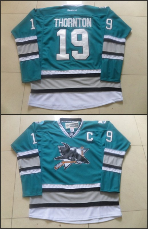 NHL San Jose Sharks 19 Joe Thornton Green 25th Anniversary