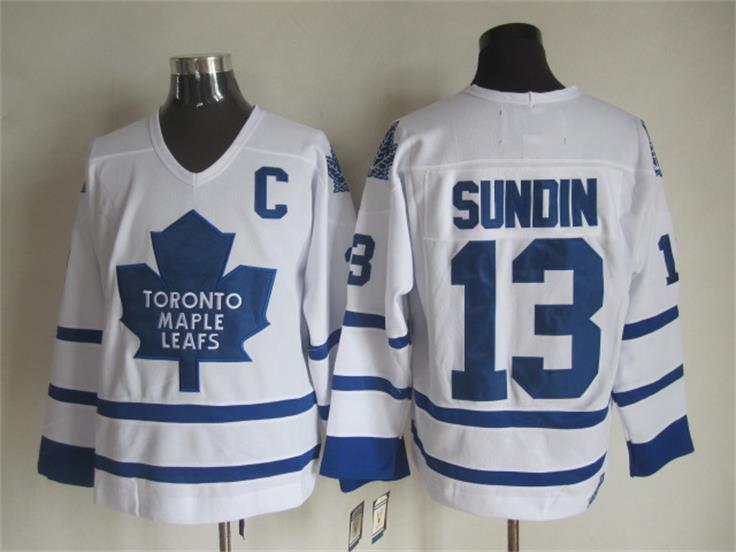 NHL Toronto Maple Leafs 13 Mats Sundin White 2015 Jerseys