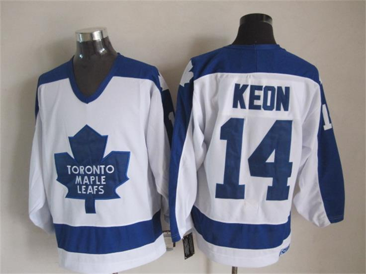 NHL Toronto Maple Leafs 14 Dave Keon White CCM Vintage Throwback