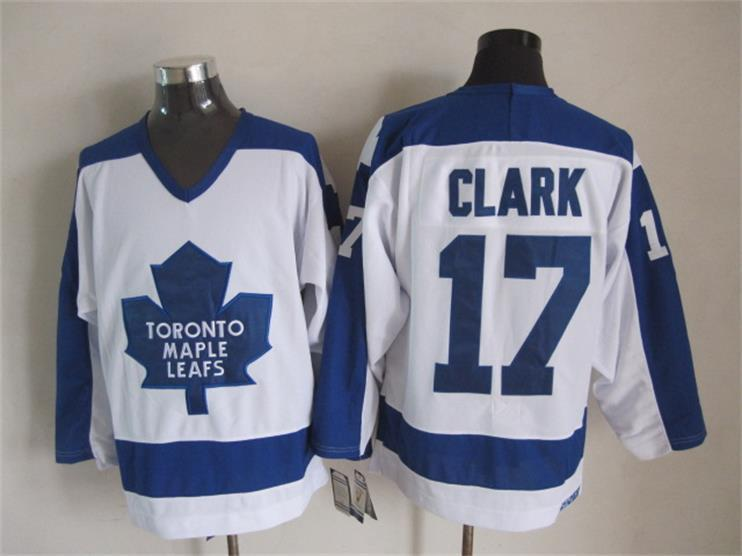 NHL Toronto Maple Leafs 17 Wendel Clark White CCM Vintage Throwback