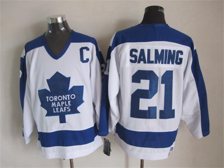 NHL Toronto Maple Leafs 21 Borje Salming White CCM Vintage Throwback