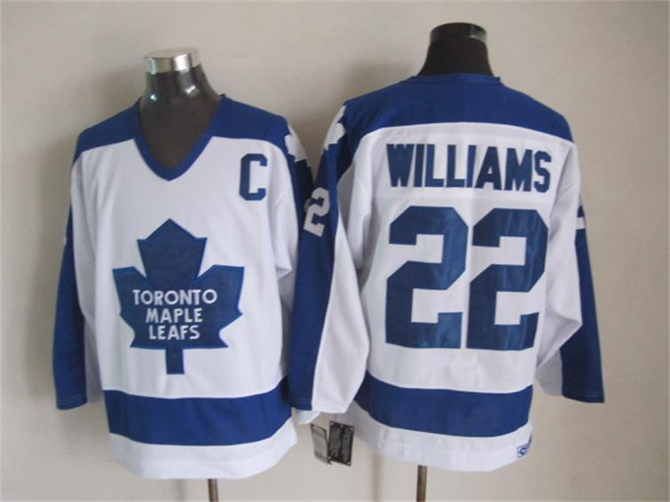 NHL Toronto Maple Leafs 22 Dick Williams White CCM Vintage Throwback