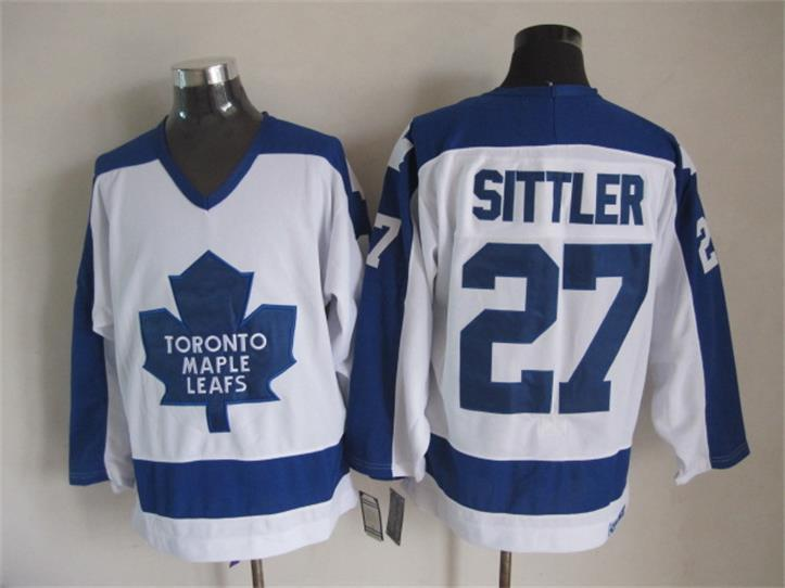 NHL Toronto Maple Leafs 27 Darryl Sittler White CCM Vintage Throwback