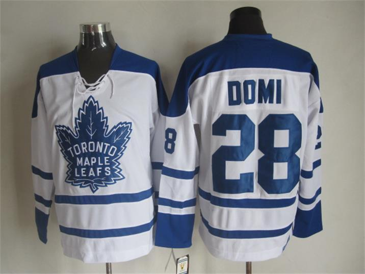 NHL Toronto Maple Leafs 28 Tie Domi White 2015 Jerseys