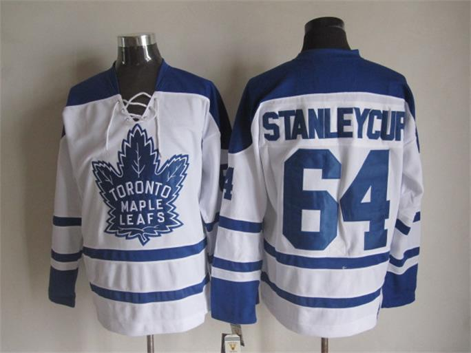 NHL Toronto Maple Leafs 64 Stanleycup White 2015 Jerseys