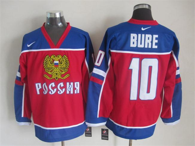 NHL Vancouver Canucks 10 bure red Russian version Jersey