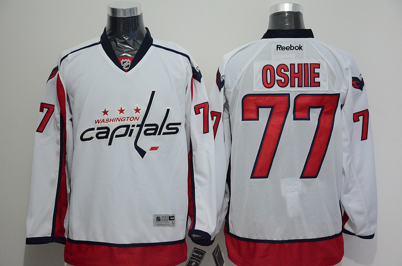 NHL Washington Capitals 77 TJ Oshie White 2015 Jerseys