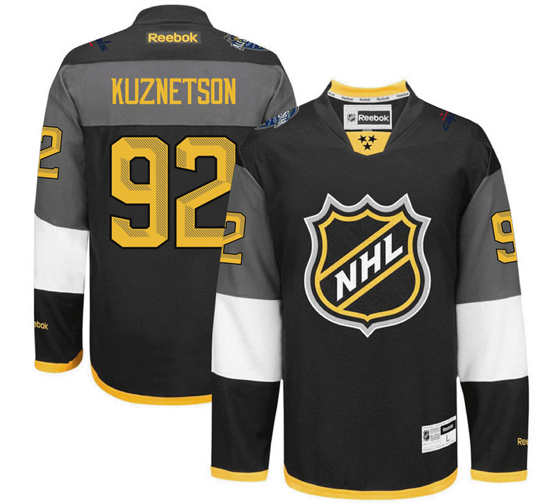 NHL Washington Capitals 92 Kuznetson black 2016 All Star Jersey
