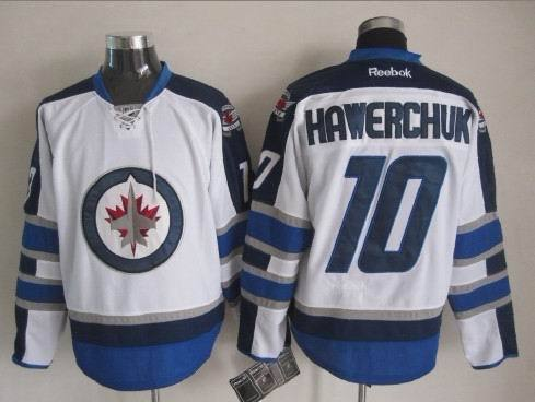 NHL Winnipeg Jets 10 Hawerchuk White 2015 Jerseys