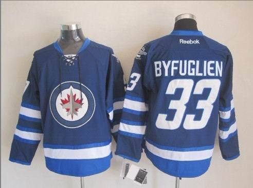 NHL Winnipeg Jets 33 Byfuglien Blue 2015 Jerseys