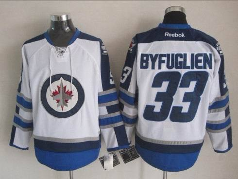 NHL Winnipeg Jets 33 Byfuglien White 2015 Jerseys