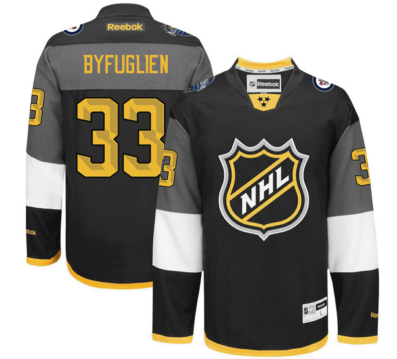 NHL Winnipeg Jets 33 Byfuglien black 2016 All Star Jersey