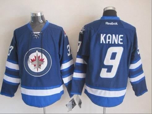 NHL Winnipeg Jets 9 Kane Blue 2015 Jerseys