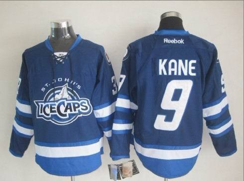 NHL Winnipeg Jets 9 Kane Blue Throwback Jersey