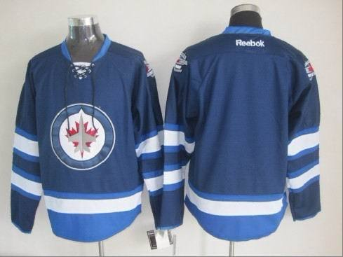 NHL Winnipeg Jets Blank Blue 2015 Jerseys