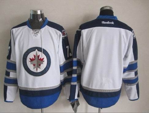 NHL Winnipeg Jets Blank White 2015 Jerseys