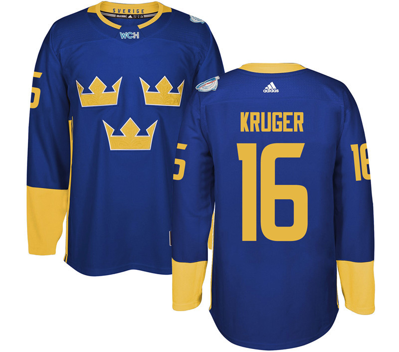 Sweden Hockey 16 Kruger blue World Cup of Hockey 2016 adidas Stitched Jersey