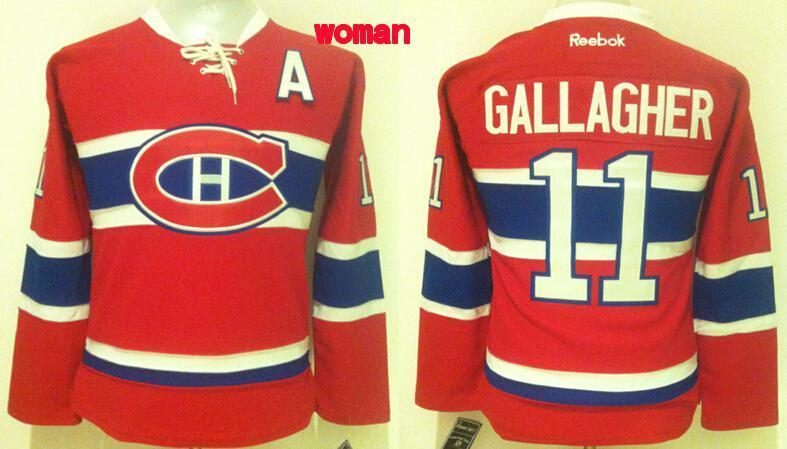 Womens NHL Montreal Canadiens 11 Brendan Gallagher Red 2015 Jerseys