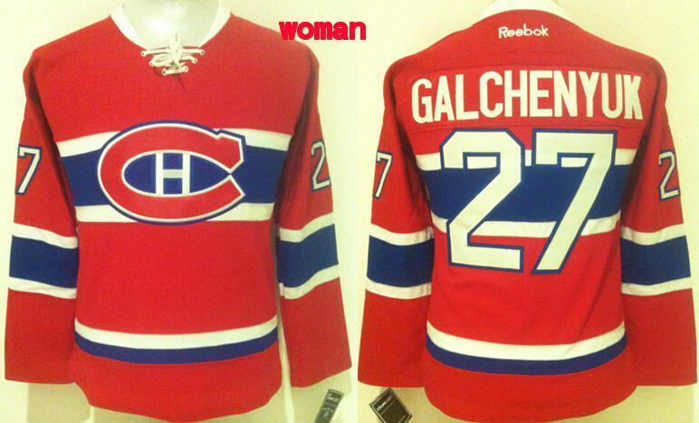 Womens NHL Montreal Canadiens 27 Alex Galchenyuk Red 2015 Jerseys