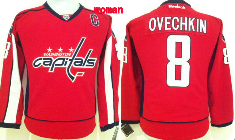 Womens NHL Washington Capitals 8 Alexander Ovechkin Red 2015 Jerseys