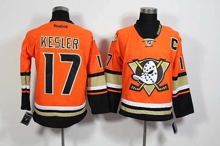 Youth NHL Anaheim Mighty Ducks 17 Ryan Kesler Orange 2015 Jerseys