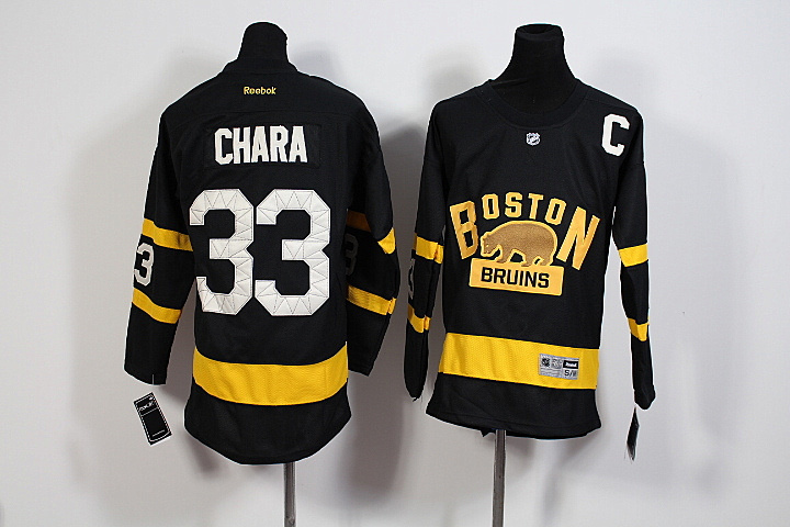 Youth NHL Boston Bruins 33 Zdeno Chara Black 2016 Winter Classic Premier Jersey.