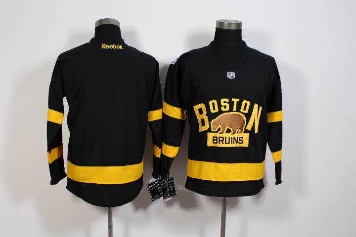 Youth NHL Boston Bruins Blank Black 2016 Winter Classic Premier Jersey