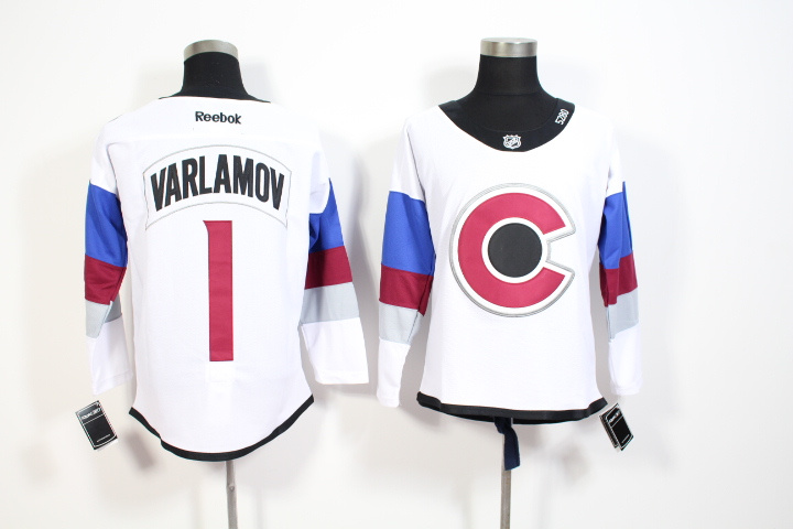 Youth NHL Colorado Avalanche 1 Semyon Varlamov 2015 Stadium Series