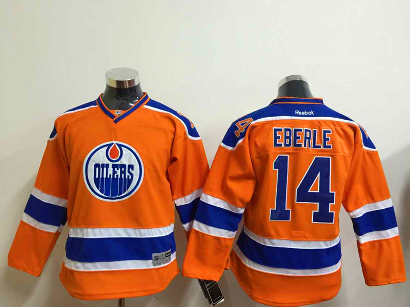 Youth NHL Edmonton Oilers 14 eberle Orange 2015 Jerseys