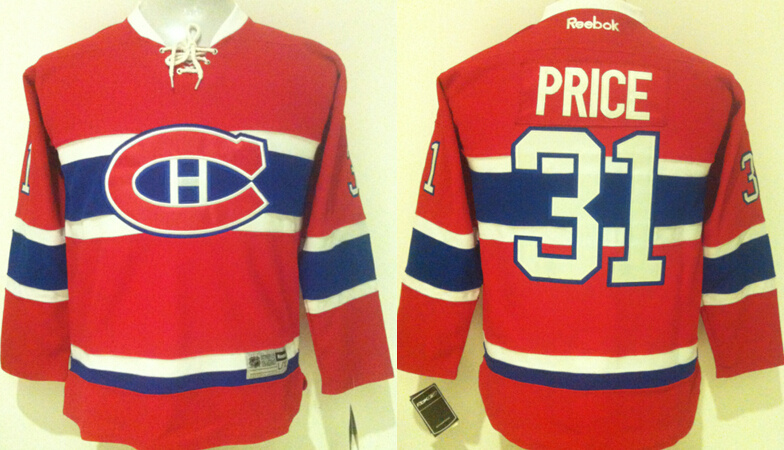 Youth NHL Montreal Canadiens 31 Price Red 2015 Jerseys