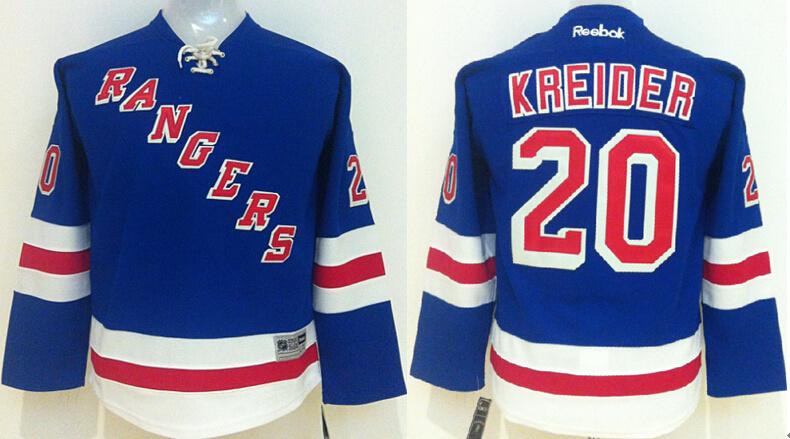 ... youth nhl new york rangers 20 chris kreider blue 2015 jerseys fa14a6a58