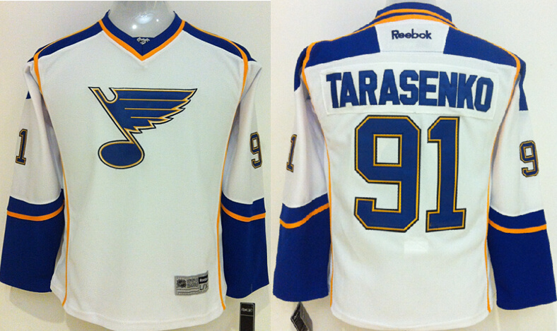 Youth NHL St. Louis Blues 91 Vladimir Tarasenko Whiate 2015 Jerseys