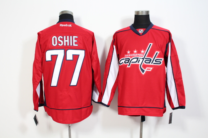 Youth NHL Washington Capitals 77 Oshie Red Jerseys