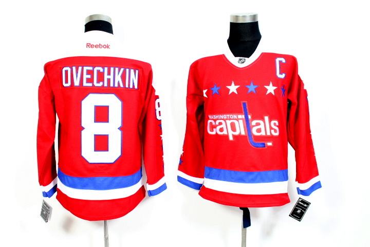 Youth NHL Washington Capitals 8 Ovechkin Red 2015 Jerseys