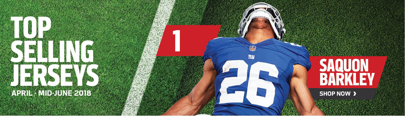 Top Selling Jerseys - #1 Saquon Barkley - Shop Now