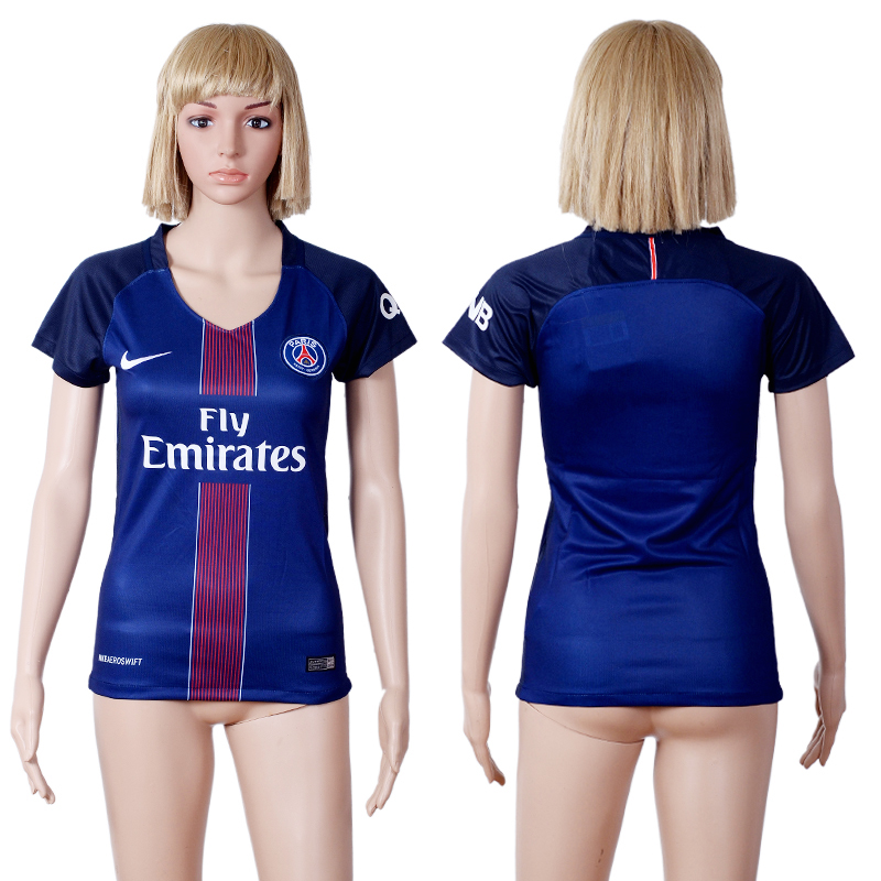 2016 -2017 club Paris St Germain home woman blue soccer jerseys