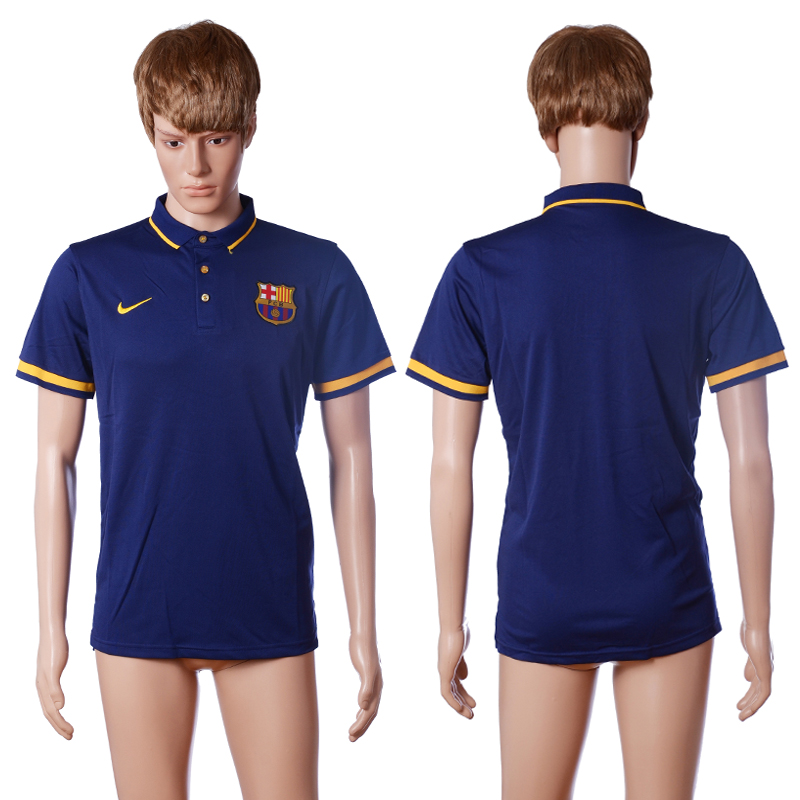 2016 Barcelona home polo shirt blue AAA+ soccer jerseys