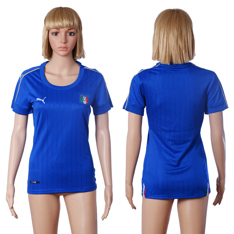 2016 European Cup Italy home Blank Blue Women soccer jerseys
