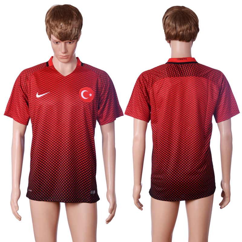 2016 European Cup Turkey home Blank Red AAA+ Soccer Jersey