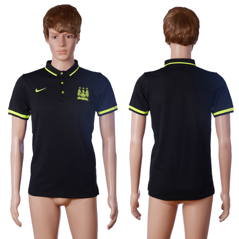 2016 Manchester city away polo shirt black AAA+ soccer jerseys