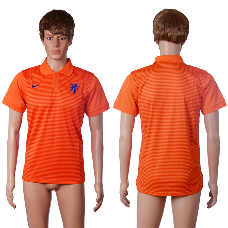 2016 Netherlands home polo shirt orange AAA+ soccer jerseys
