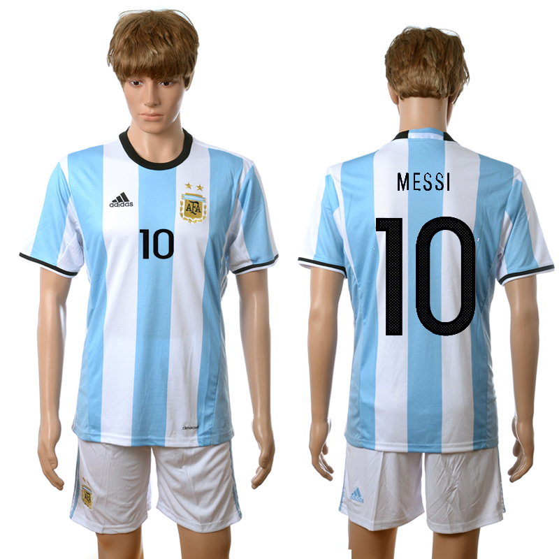2016-2017 Argentina home 10 Messi blue soccer jerseys